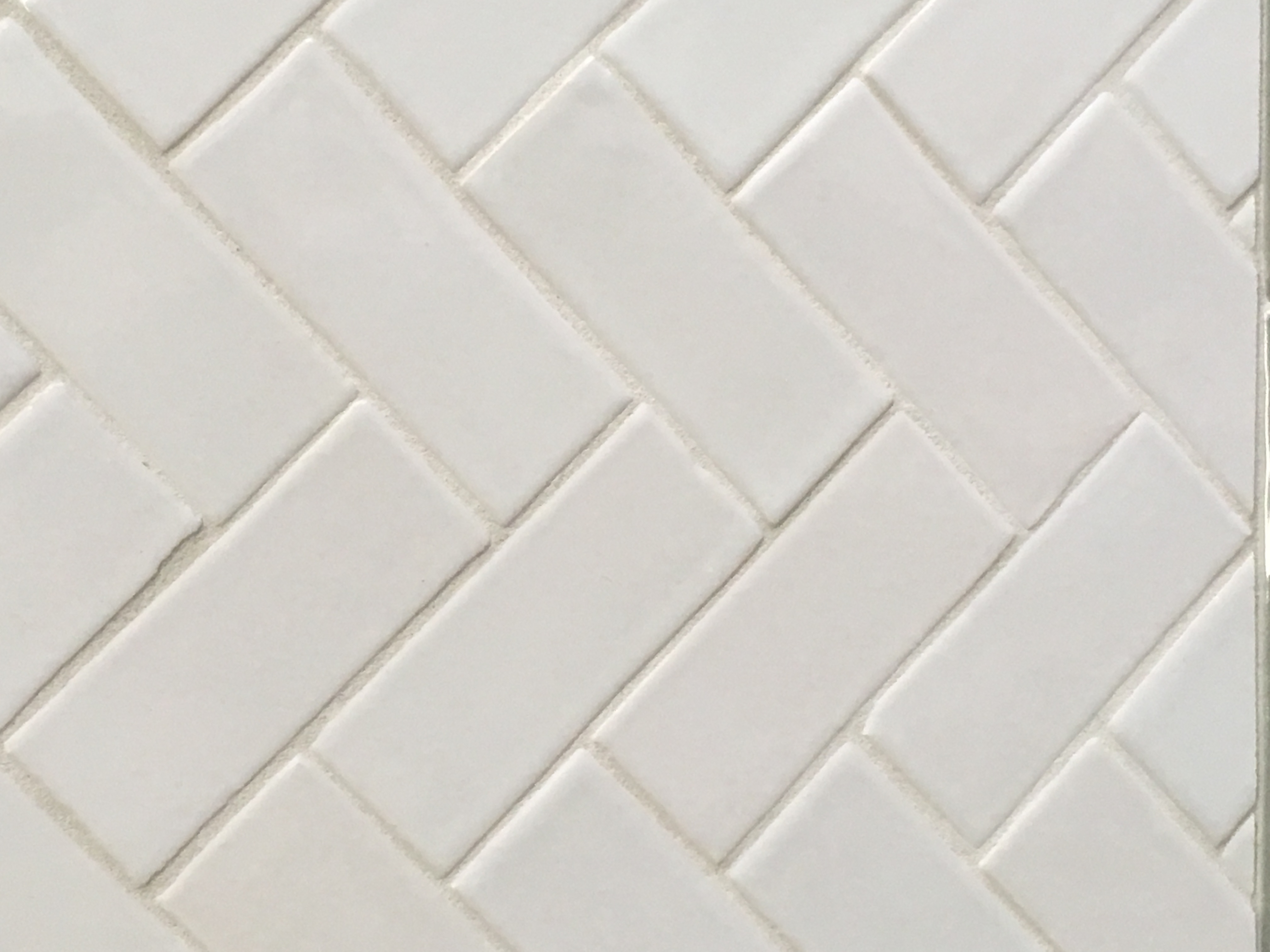 Products tile stone techniques handmade white gloss subway tile in herringbone pattern dailygadgetfo Choice Image