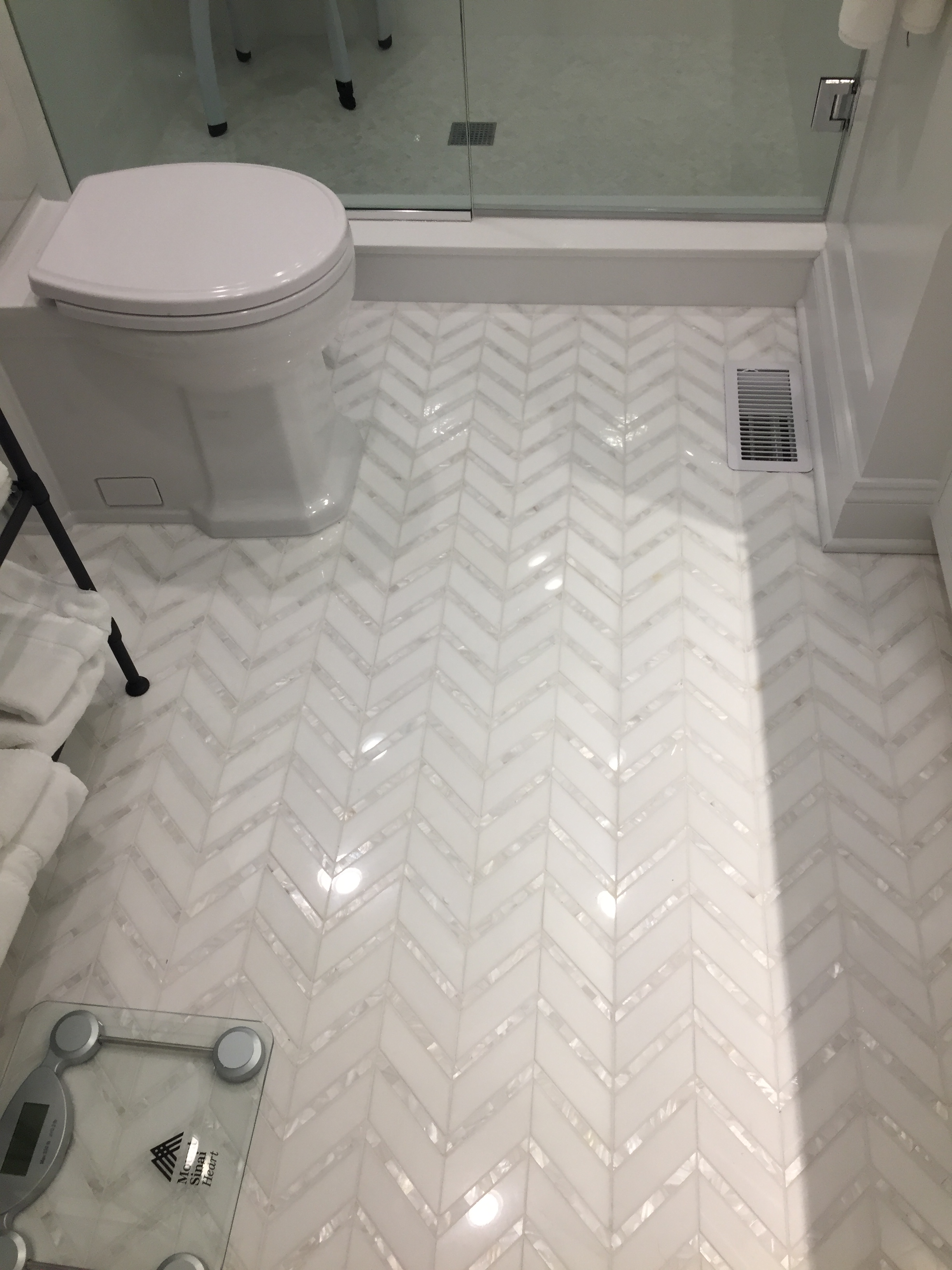 Thos Mother Of Pearl Chevron Mosaic